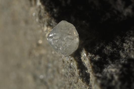White diamond on kimberlite