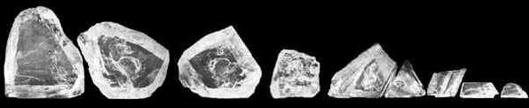 Nine largest rough diamonds cut from the Cullinan diamond (before final cuts and polish)