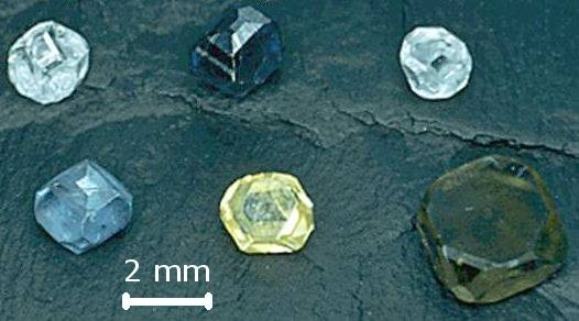 Synthetic diamonds produced by the HPHT process